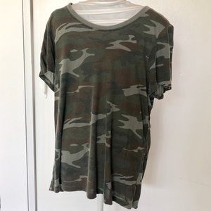 Loose fitted camo t-shirt